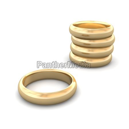 Goldene Hochzeit Ringe Lizenzfreies Bild 3289939 Bildagentur