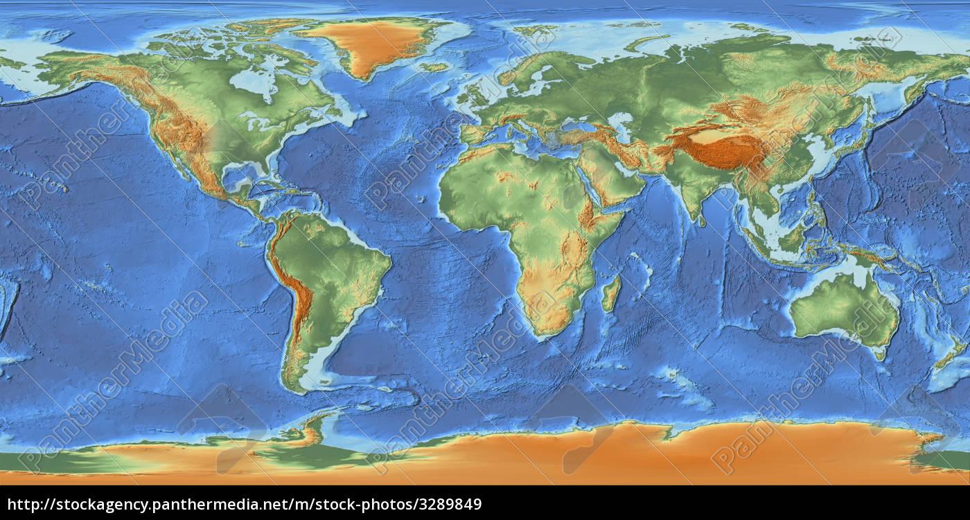 Weltkarte mit relief lizenzfreies bild 3289849 for Weltkarte mit fotos