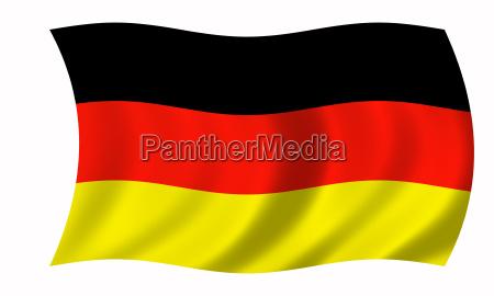 flagge deutschland wehend