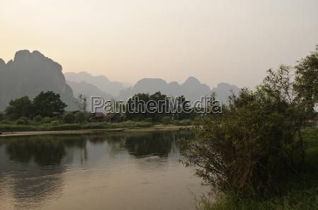 karst landscape in laos