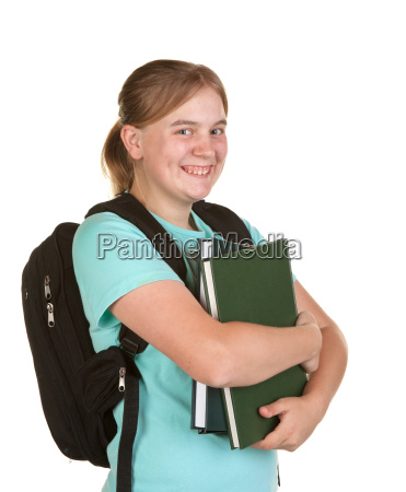 girl ready for college
