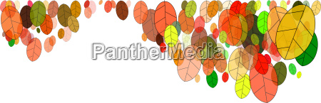 autumn leaves graphic white