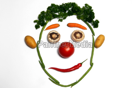 food aliment uncooked vegetarian food face