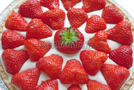 erdbeer kaesekuchen nahaufnahme
