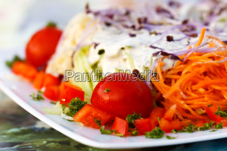 sommer salat reich gemischt italienis