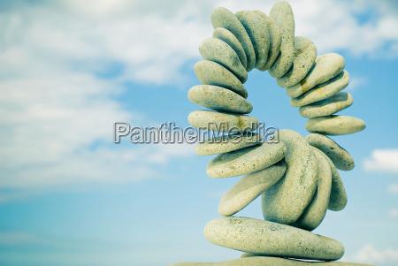 stones in einem kreis form angeordnet