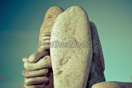 close up von kieselsteinen