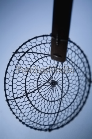 high angle view of a basket