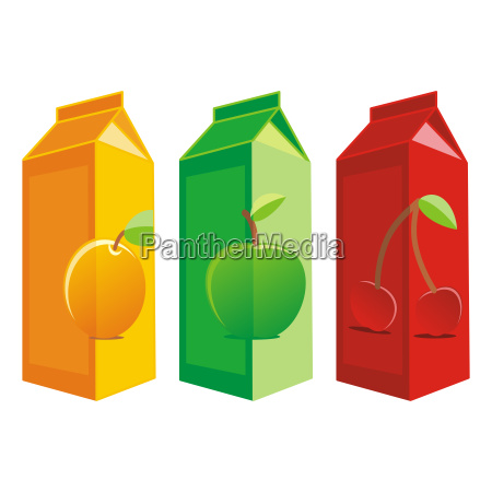isolated juice carton boxes