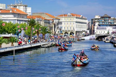 landschaft von aveiro portugal