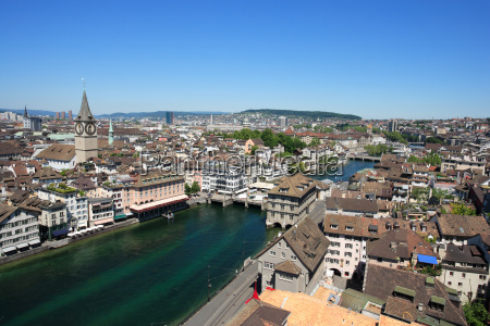 cityscape of zurich switzerland