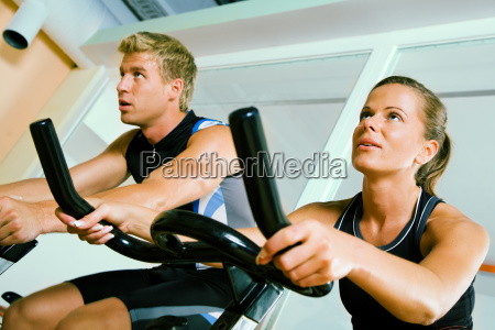 cycling in the gym