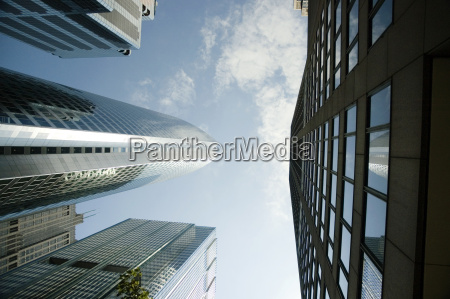 low angle view of skyscrapers in
