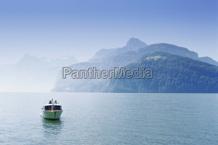 boat in a lake lake lucerne