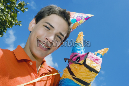 portrait of a boy smiling with