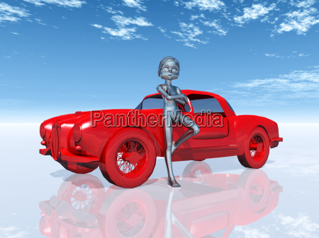 figure with car