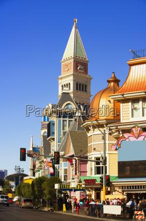 buildings along a street las vegas