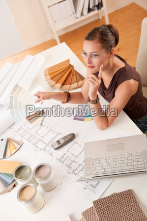 female designer working in the office