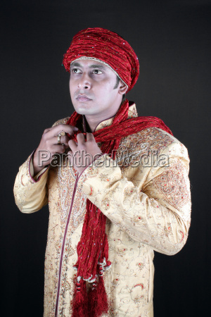 wearing traditional costume