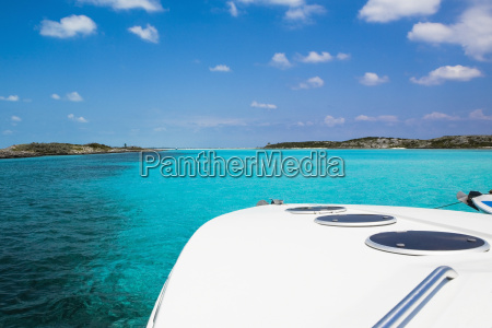boat in the sea exuma bahamas