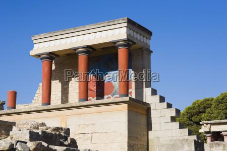 alte ruinen eines palastes knossos kreta
