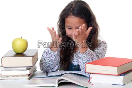 ma girl learns f r school