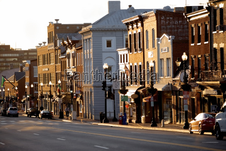 buildings along a road m street