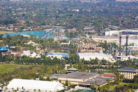 aerial view of a city orlando