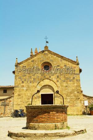 facade of a church romanesque church