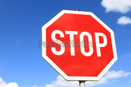stop sign in germany