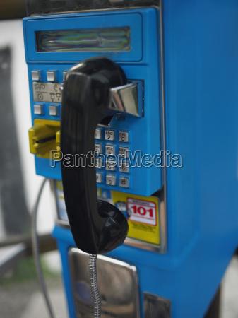 close up of a landline phone