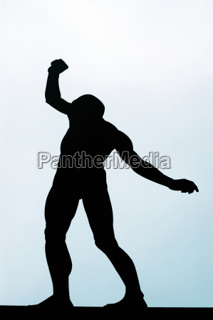 low angle view of the silhouette