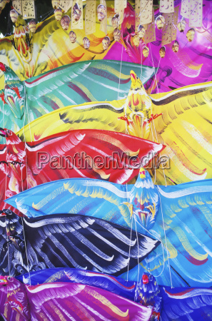 close up of kites in a