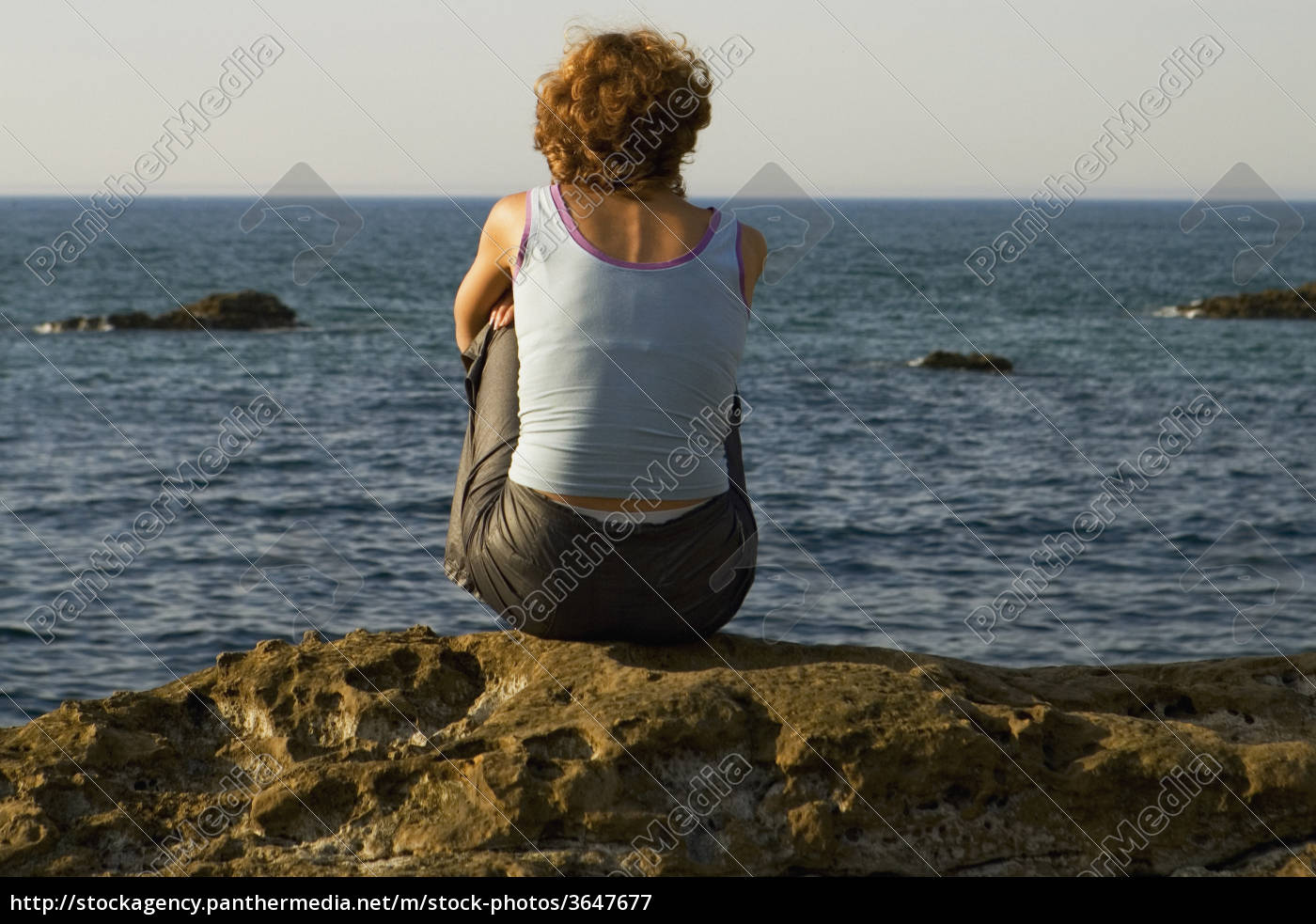 rear, view, of, a, woman, sitting - 3647677