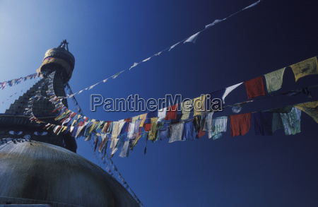 low angle view of a stupa