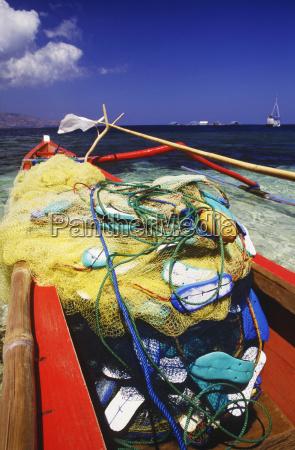 close up of a fishing net