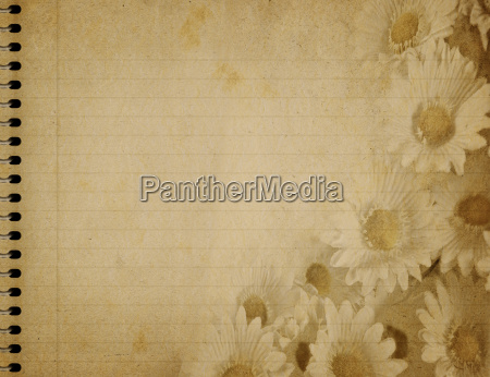 old parchment with flowers