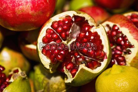 close up von granataepfeln tlacolula de
