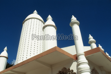 a prominent minaret of a hindu