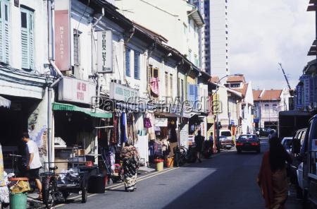buildings along a street singapore