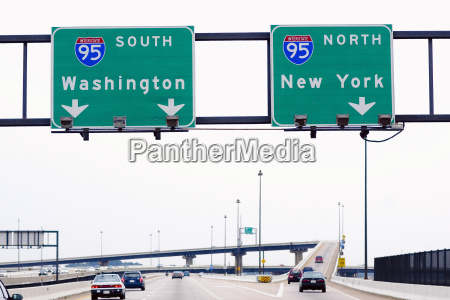 low angle view of road signboards