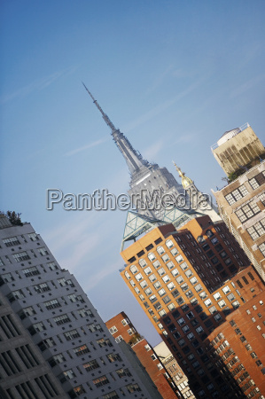 low angle view of buildings empire