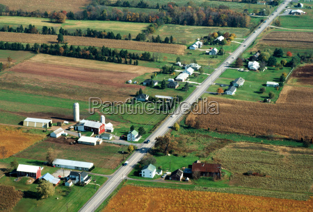 aerial view of country side pa