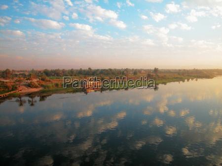 reflexion, der, wolke, auf, dem, wasser, nil, Ägypten - 3712777