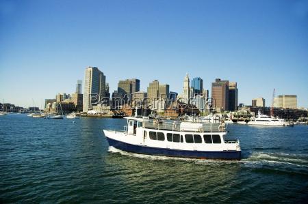 passenger ships in the river boston