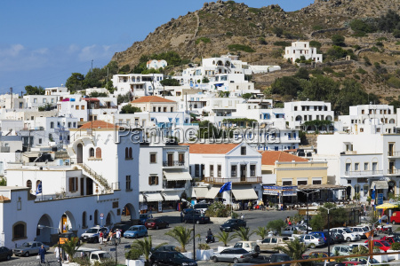 buildings in a city patmos dodecanese