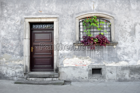 simple old house facade
