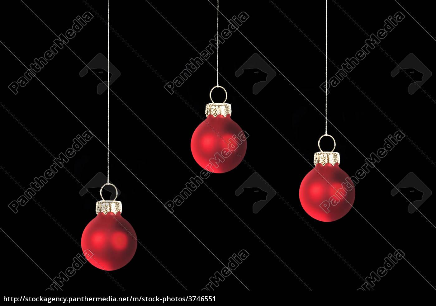 Dunkelrote Christbaumkugeln.Lizenzfreies Bild 3746551 Drei Rote Christbaumkugeln Freigestellt