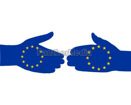 europaeischer handschlag