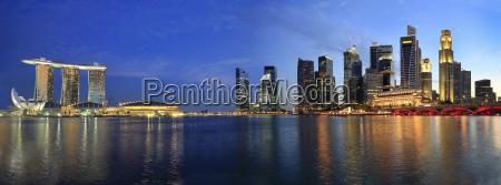 singapur stadtbild von der esplanade panorama
